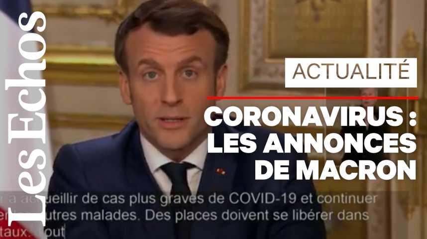 Illustration pour la vidéo Coronavirus : Macron ferme les écoles, crèches et universités