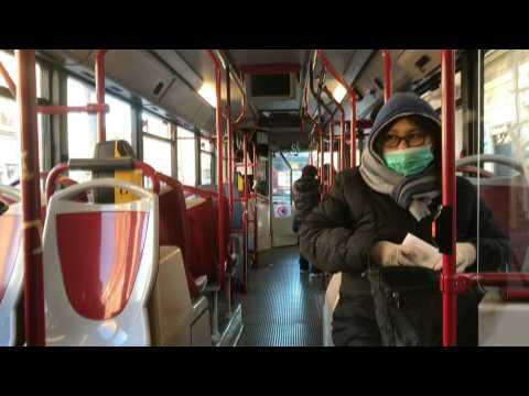 A few tourists take to empty Rome streets amid COVID-19 crisis