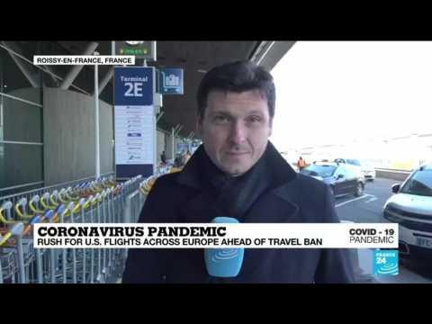 Coronavirus Pandemic: Rush for US flights across Europe ahead of travel ban