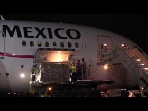 China sends 10.1 tons of medical supplies to Mexico