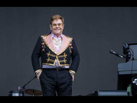 Sir Elton John enjoying family time