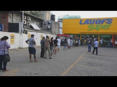 Panic buying in Sri Lanka after gov't imposes curfew to curb COVID-19 spread
