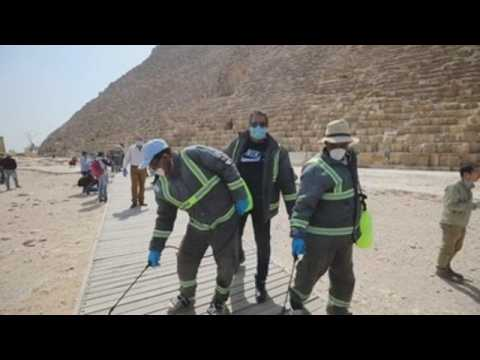Egypt disinfects pyramids
