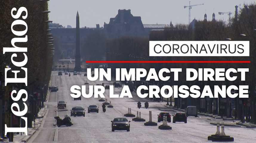 Illustration pour la vidéo Le coronavirus entraîne un choc économique violent