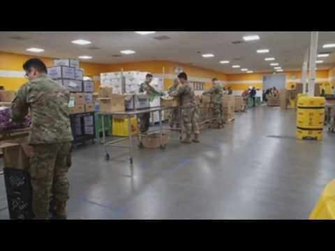 California National Guard deployed to distribute food across the state