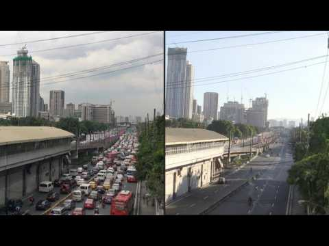 Before and after the coronavirus: Manila under quarantine