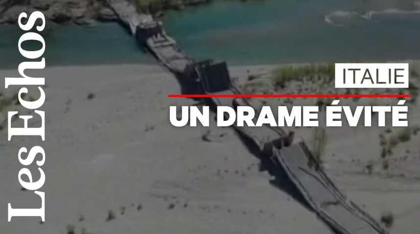 Illustration pour la vidéo Un pont s'effondre en Italie, sans faire de victime