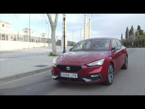 The all-new Seat Leon FR in Desire Red Driving Video