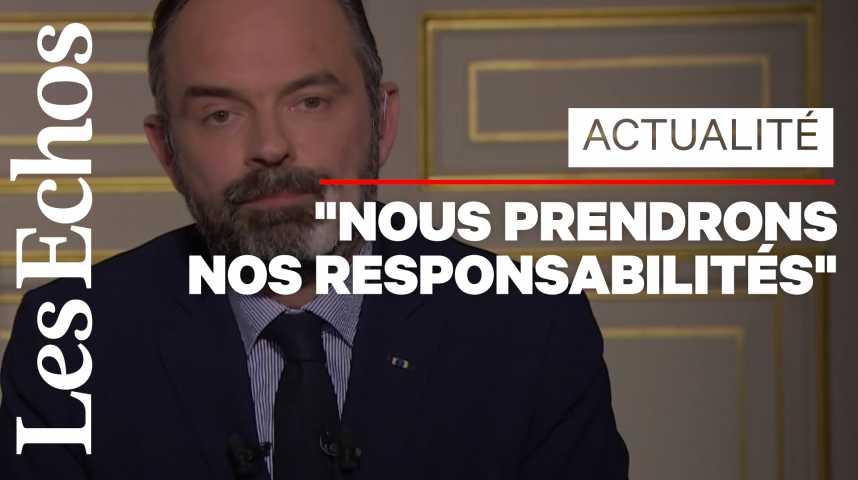 Illustration pour la vidéo Coronavirus : Edouard Philippe n'exclut pas des nationalisations