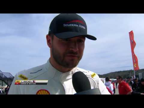 Ferrari Challenge NA - Cooper MacNeil talks race 2 results at Road Atlanta