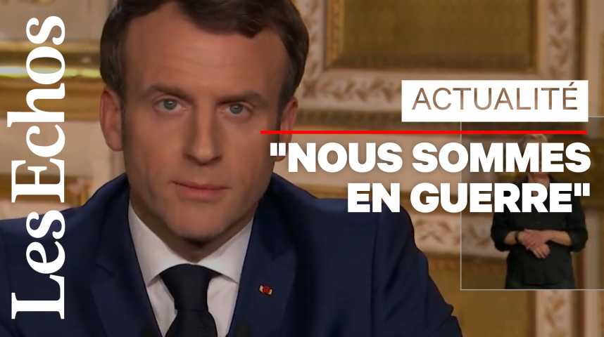 Illustration pour la vidéo Coronavirus : Emmanuel Macron interdit les «déplacements non essentiels»