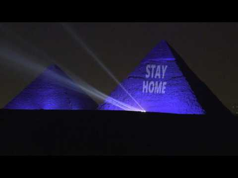 Coronavirus: Egypt lights up the Great Pyramids with 'Stay Home' message
