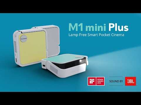 ViewSonic M1 mini Plus Smart LED Pocket Cinema Projector with Wi-Fi, Bluetooth and JBL Speakers