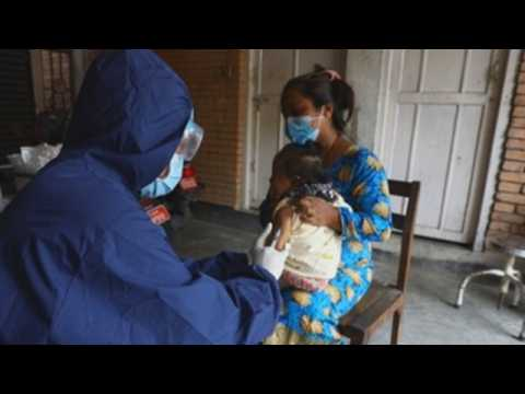Nepal carries out children vaccination campaign despite COVID-19 lockdown