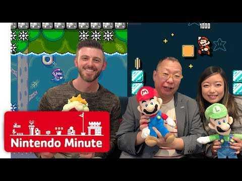 Takashi Tezuka Rates Our Super Mario Maker 2 Levels - Nintendo Minute