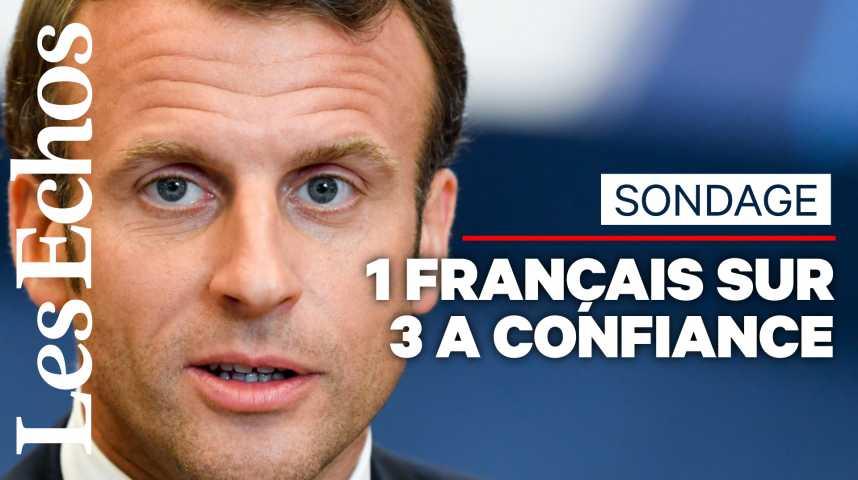 Illustration pour la vidéo Sondage : « Ni rechute, ni embellie », la cote de confiance d'Emmanuel Macron se stabilise