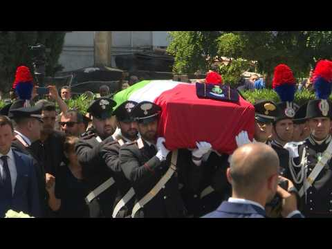 Funeral held for Italian police officer allegedly killed by two US teens
