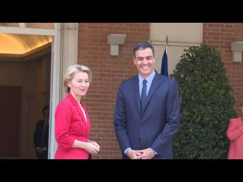 Caretaker PM Sanchez meets EU chief Ursula Von der Leyen