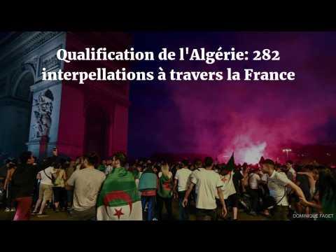 Qualification de l'Algérie : 282 interpellations à travers la France