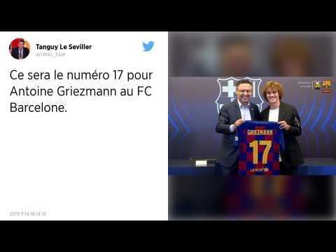 Mercato : Le FC Barcelone dévoile un numéro surprenant pour Antoine Griezmann
