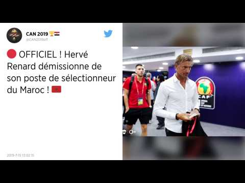 CAN 2019 : Hervé Renard démissionne de son poste de sélectionneur du Maroc