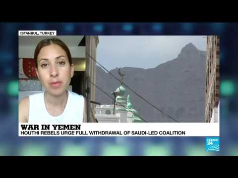 War in Yemen : Houthi rebels urge full withdrawal of saudi-led coalition