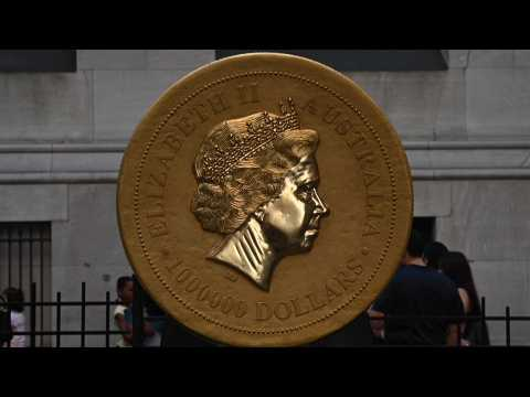 G'day! Aussies bring giant gold coin to Wall Street