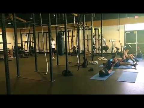OM : séance physique en salle pour les Olympiens, actuellement à Washington