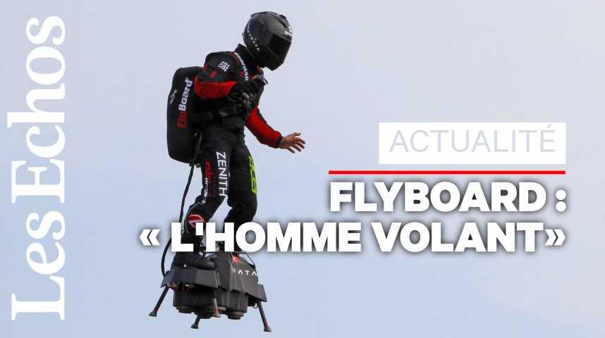 Illustration pour la vidéo Flyboard : échec lors de la traversée de la Manche