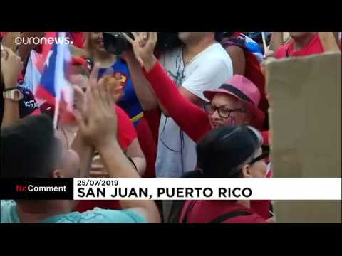 Celebrations in Puerto Rico after governor's resignation