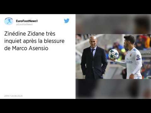 Real Madrid : Zinédine Zidane «?sous le choc?» après la terrible blessure de Marco Asensio