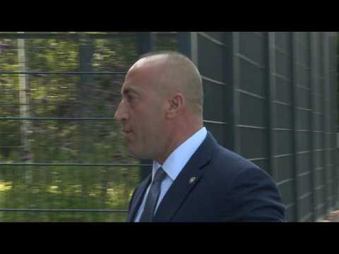 Former Kosovo PM Haradinaj arrives at special war crimes court