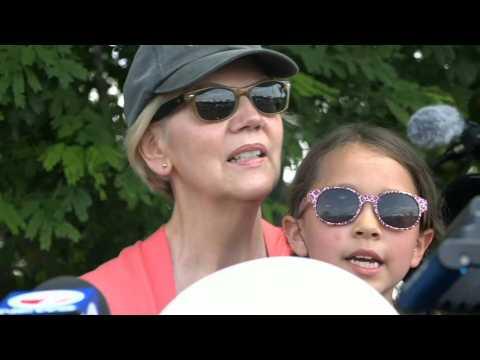 Elizabeth Warren visits Homestead migrant facility hours ahead of first debate