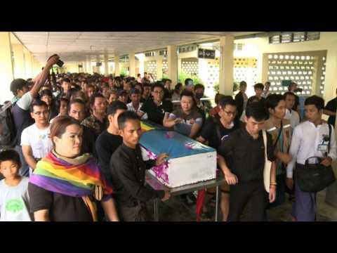 Funeral of bullied Myanmar gay man who took own life