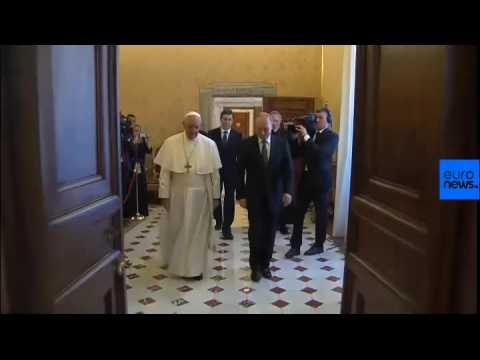 Russian President Vladimir Putin meets Pope Francis in Vatican