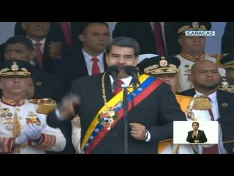 Venezuela's Maduro appears for military parade on day of protests