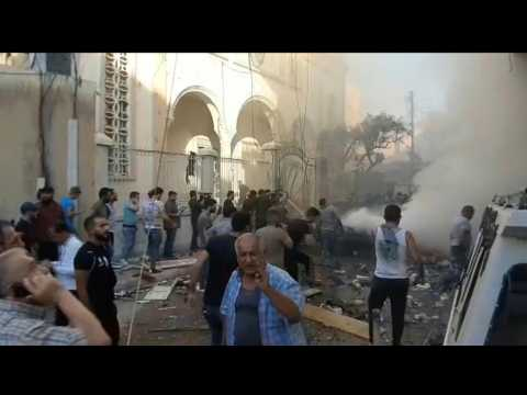 Car bomb hits near church in Qamishli, northeast Syria