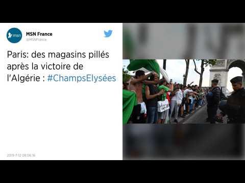 CAN 2019 : Des magasins pillés sur les Champs-Elysées après la victoire de l'Algérie