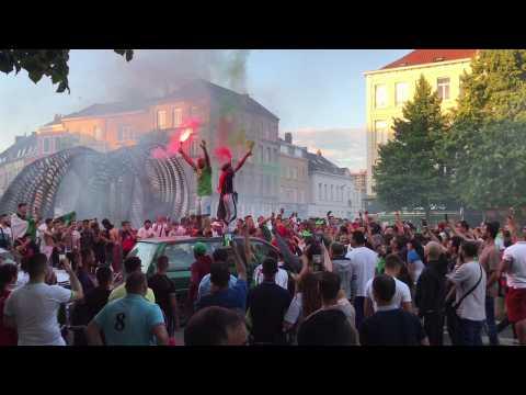 Les Algériens fêtent leur qualification dans les rues de Lille