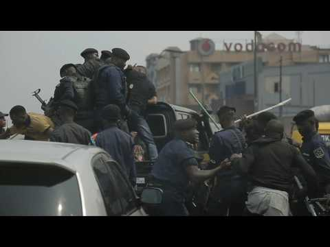 DR Congo police break up banned opposition march in Kinshasa