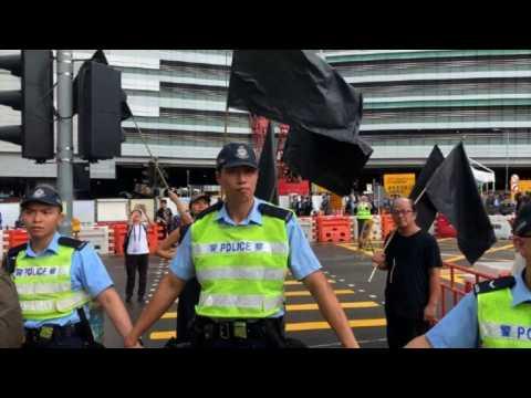 Protests begin as Hong Kong marks handover anniversary