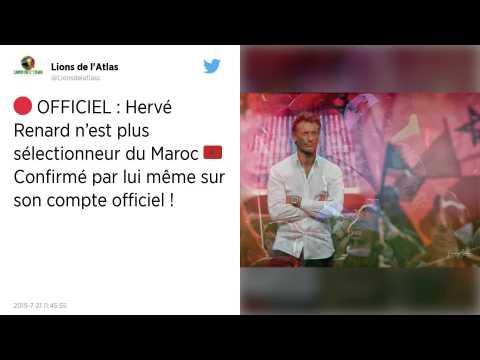 CAN 2019 : Hervé Renard quitte son poste de sélectionneur du Maroc