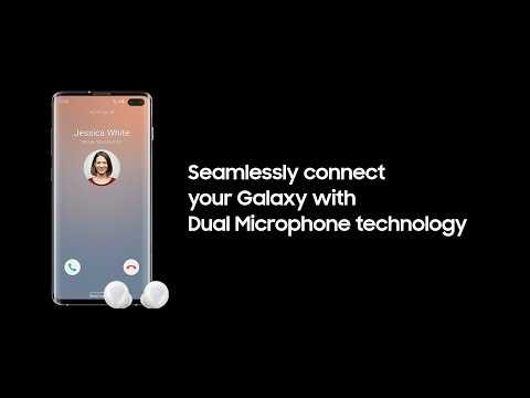 Dual Microphone Technology with Galaxy S10