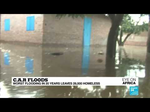 Worst flooding in 20 years leaves 28,000 homeless in Central African Republic