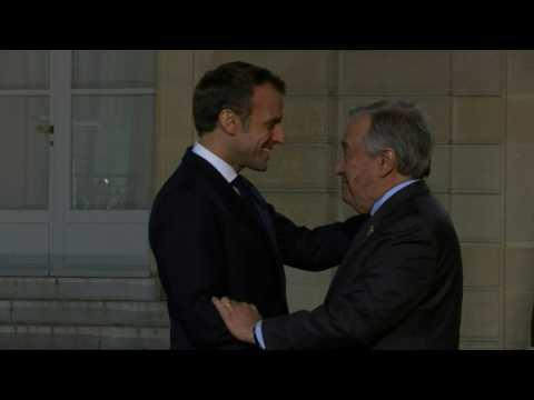 UN Secretary general Guterres meets Macron ahead of Paris Peace Forum