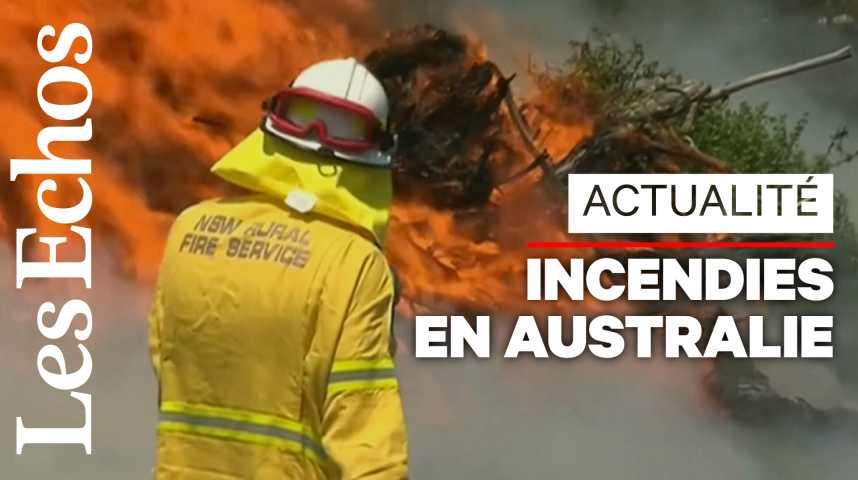 Illustration pour la vidéo L'Australie touchée par de graves incendies qui se rapprochent de Sydney