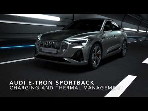 Charging and thermal management of the Audi e-tron Sportback Animation