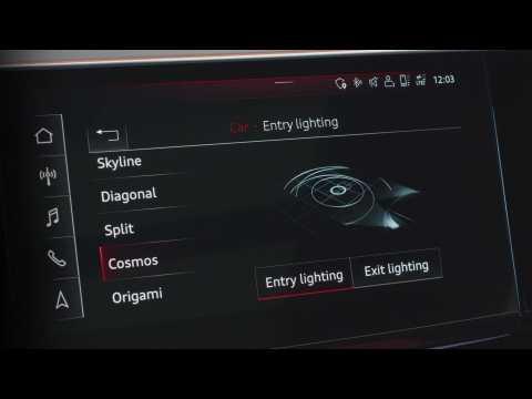 The new Audi e-tron Sportback Infotainment system