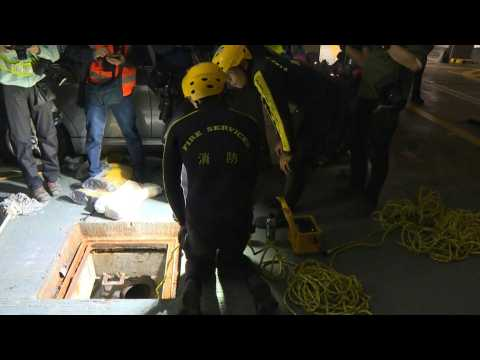 Hong Kong protesters attempt escape via sewage system