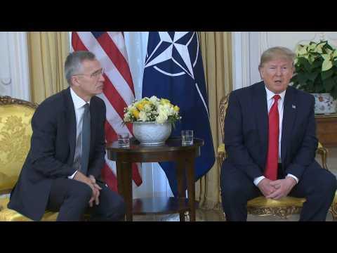 Trump says Macron NATO critism 'very nasty'